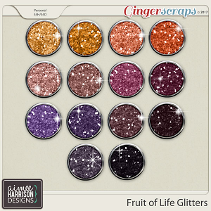 Fruit of Life Glitters by Aimee Harrison