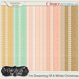 I'm Dreaming Of A White Christmas Pattern Papers
