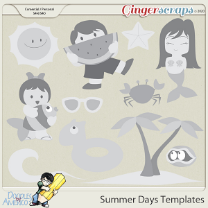 Doodles By Americo: Summer Days Templates
