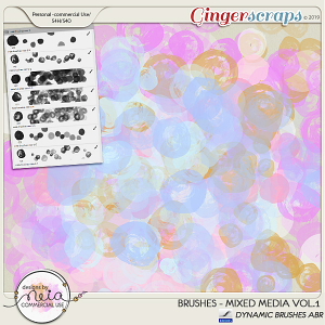 Brushes -Mixed Media VOL 01 - by Neia Scraps - CU