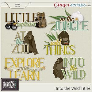 Into the Wild Titles by Aimee Harrison