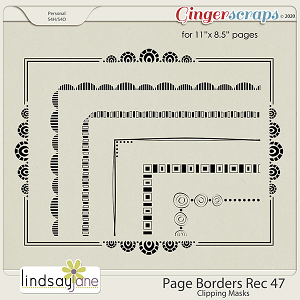 Page Borders Rec 47 by Lindsay Jane
