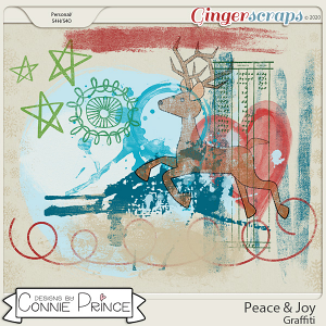 Peace & Joy - Graffiti by Connie Prince