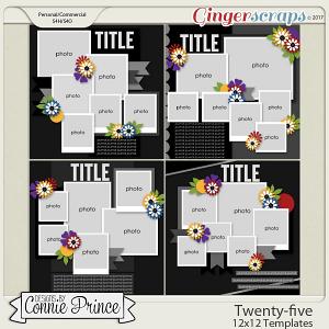 Twenty-five - 12x12 Temps (CU Ok) by Connie Prince
