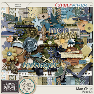 Man Child Page Kit by Aimee Harrison and Chere Kaye Designs