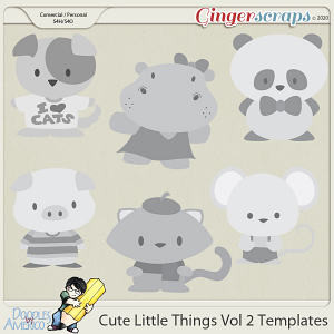 Doodles By Americo: Cute Little Things Vol 2 Templates