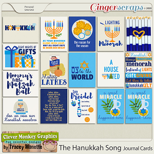 The Hanukkah Song Journal Cards by Clever Monkey Graphics