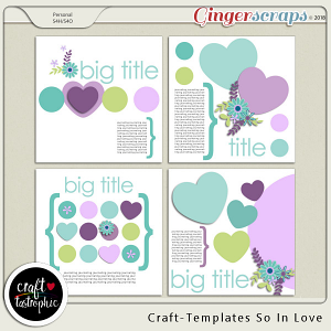 Craft-Templates So in Love