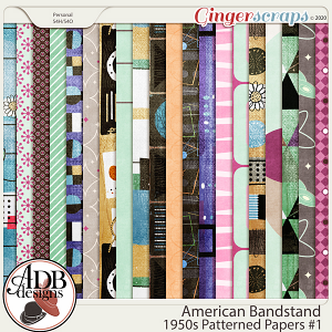 American Bandstand Pattern Papers Set 1 by ADB Designs