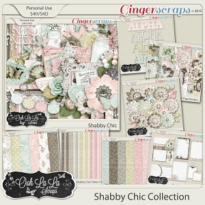 Shabby Chic Digital Scrapbook Bundle