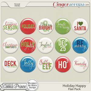 Holiday Happy - Flair Pack