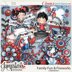 Family Fun & Fireworks {Elements} by Jumpstart Designs