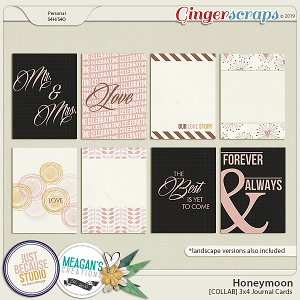Honeymoon Journal Cards by JB Studio and Meagan's Creations