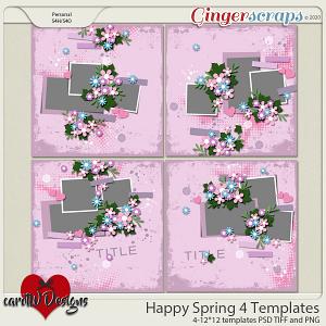 Happy Spring 4 Templates by CarolW Designs