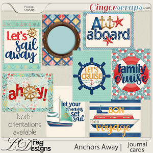 Anchors Away Journal Cards by LDragDesigns