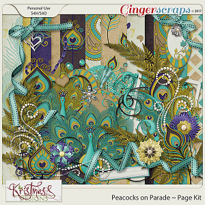 Peacocks on Parade Page Kit