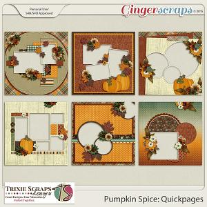 Pumpkin Spice Quickpages by Trixie Scraps Designs