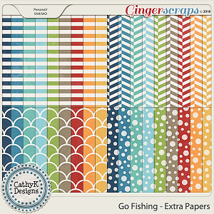 Go Fishing - Extra Papers by CathyK Designs