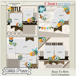 Boys To Men - 12x12 Templates (CU Ok)