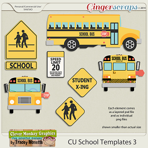 CU School Templates 3 by Clever Monkey Graphics