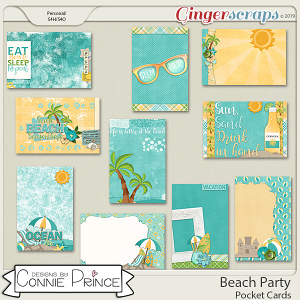Beach Party - Pocket Cards by Connie Prince