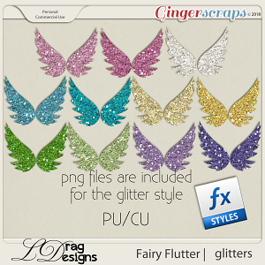 Fairy Flutter: Glitterstyles by LDragDesigns