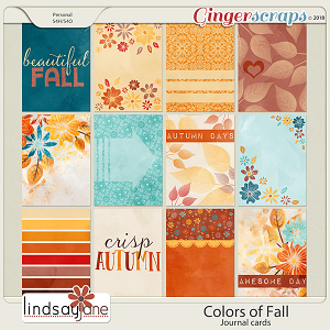 Colors of Fall Journal Cards by Lindsay Jane
