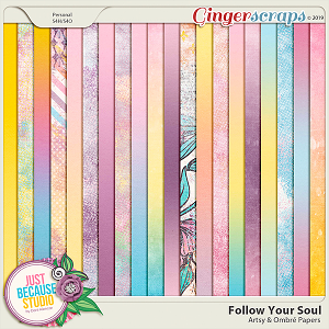 Follow Your Soul Artsy and Ombré Papers by JB Studio