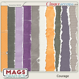 Courage Worn & Torn PAPERS by MagsGraphics