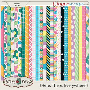Here, There, Everywhere Papers by Scraps N Pieces