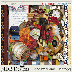 And War Came Heritage Page Kit