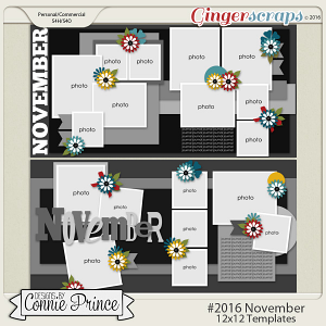 #2016 November - 12x12 Template Pack (CU Ok)