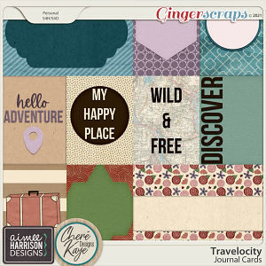 Travelocity Journal Cards by Aimee Harrison and Chere Kaye Designs