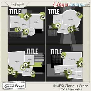 {HUES} Glorious Green - 12x12 Temps (CU Ok)