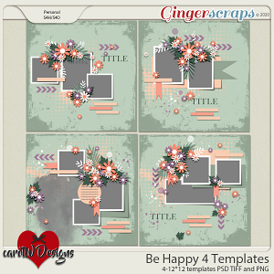 Be Happy 4 Templates by CarolW Designs