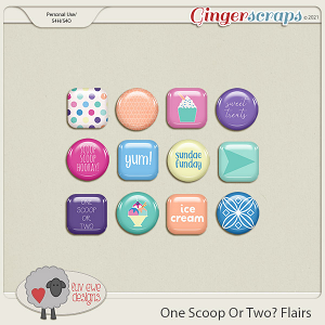 One Scoop Or Two Flairs by Luv Ewe Designs