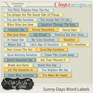 Sunny Days Word Labels