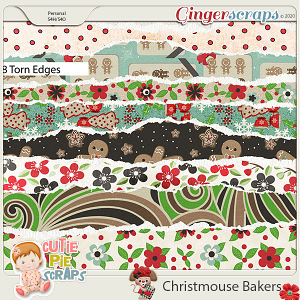 Christmouse Bakers Torn Edges
