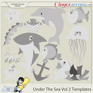 Doodles By Americo: Under The Sea Vol 2 Templates