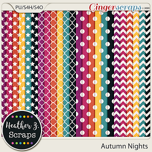 Autumn Nights EXTRA PAPERS by Heather Z Scraps