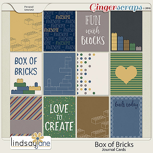 Box of Bricks Journal Cards by Lindsay Jane