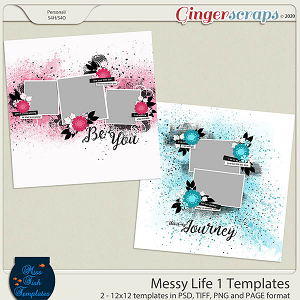 Messy Life 1 Templates by Miss Fish