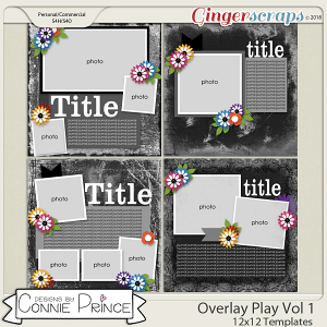 Overlay Play Volume 1 - 12x12 Temps (CU Ok) by Connie Prince