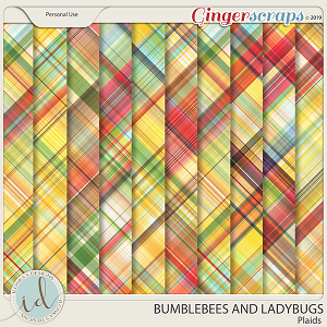 Bumblebees And Ladybugs Plaids by Ilonka's Designs