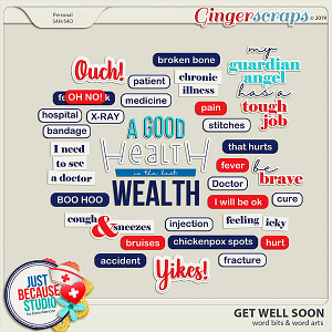 Get Well Soon Word Bits and Word Arts by JB Studio