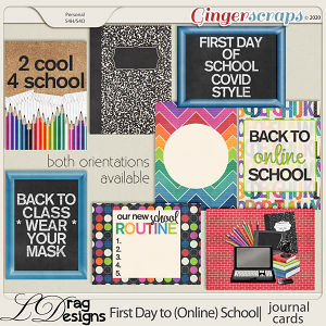 First Day To (Online) School: Journal Cards by LDragDesigns
