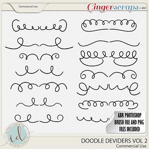 CU Doodle Deviders Vol 2 by Ilonka's Designs
