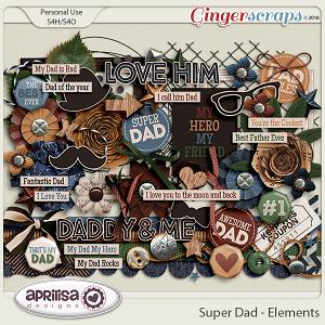Super Dad - Elements by Aprilisa Designs