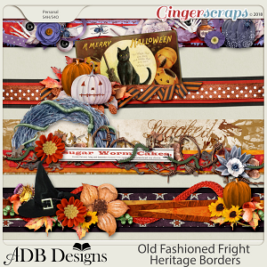 Old Fashioned Fright Heritage Clustered Borders by ADB Designs