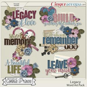 Legacy - Word Art Pack